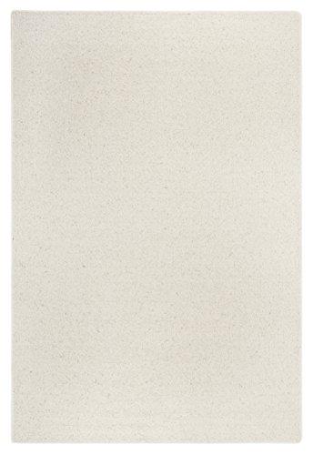 Wollteppich Schurwolle Wolle flauschig natur Uni creme 240 x 340 cm . Weitere Farben und Größen verfügbar