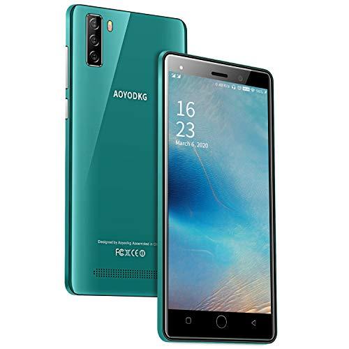 Smartphone Ohne Vertrag AOYODKG, 4G Handy 5,0 Zoll 1GB+16GB Internal Speicher, Dual Kameras, Dual-SIM Telefon entsperrt Simlockedfreie Smartphones für Android 9.0 - Grün