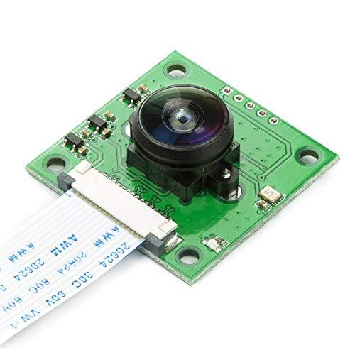 Arducam Fisheye Camera for Raspberry Pi with M12 Lens, 6MP OV5647 1080P Camera Module for Raspberry Pi 4, 3, 3B+