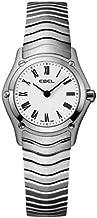 Ebelクラシックwomens-miniホワイトダイヤルステンレススチール時計9003F11/ 0125/ 1215419