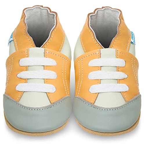 Zapatillas Bebe Niño - Zapato Bebe Niño - Zapatos Bebes - Calzados Bebe Niño - Deportivas Amarillos - 6-12 Meses