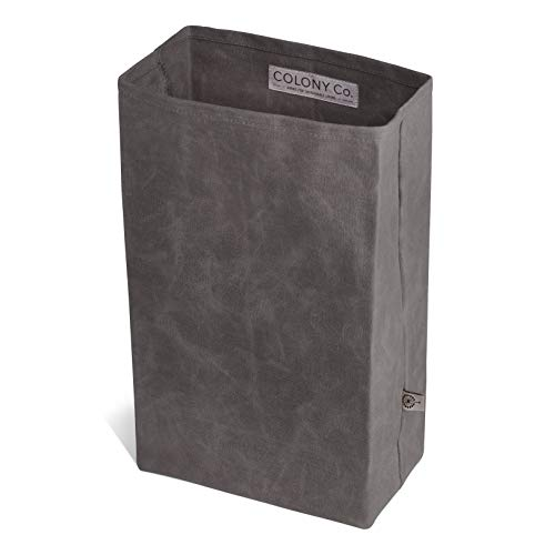 Product Image 2: Colony Co. Lunch Bag, Waxed Canvas, Durable, Plastic-Free, For Men, Women and Kids, Gray