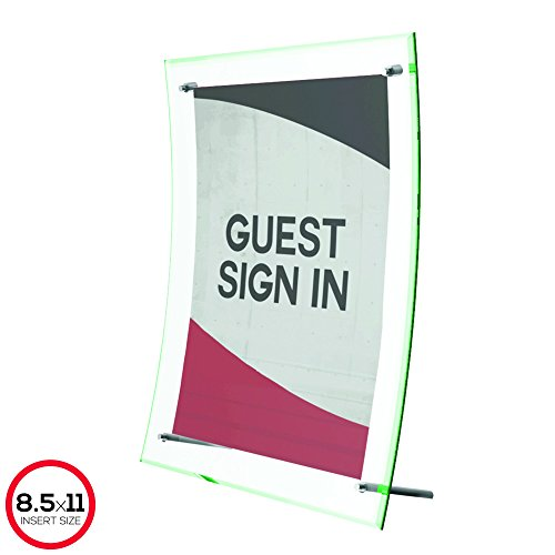 Deflecto Superior Image Curved Sign Holder, 8.5 x 11 Inches (799783) Photo #7