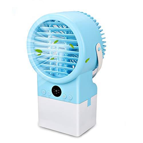 Mini Persönlicher Luftkühler Mobile Klimageräte Verdunstungsgerät mit Wasserkühlung Mini Air Cooler 2 Timer 3 Geschwindigkeiten 7 Farben LED für Zuhause Büro