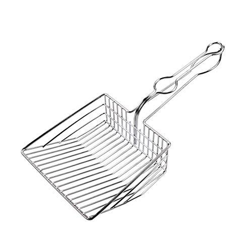 Metall Katzenstreuschaufel Kätzchen Toiletten Metallschaufel Reinigungsschaufel Haustier Reinigungswerkzeug
