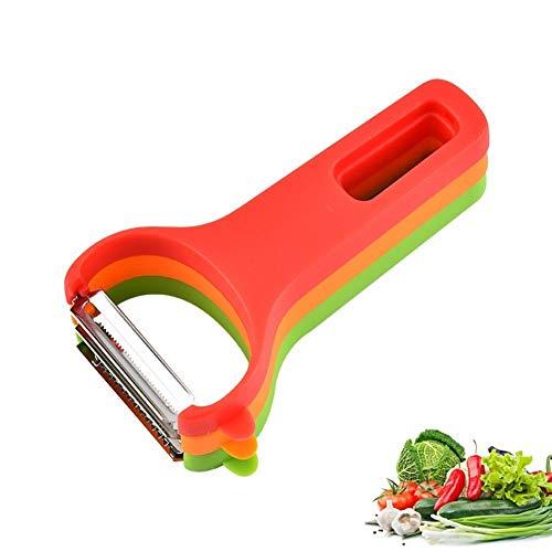 Voor Lange Tijd Gebruik Plantaardige RVS dunschiller, 3 Pack Magic dunschiller Tool Quick dunschiller for Linten/aardappelen/wortelen/Appels/And Elke Groenten & Fruit, 3 Pack (Size : 3 PACK)