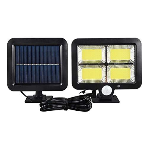 Smosyo Lámparas solares para Exteriores Lámparas solares de Seguridad Lámparas solares LED con detectores de Movimiento Iluminación Exterior Impermeable Panel Solar de luz para Patio, jardín