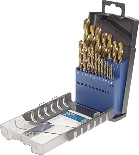kwb HSS Metallbohrer-Set – Titan Spiralbohrer-Satz in Industrie-Qualität, Werkzeug-Box 19-teilig