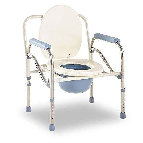 Z-SEAT Toilettenstuhl, Leichter bariatrischer Sitz für Erwachsene, höhenverstellbar 10 cm, wasserdichter Duschstuhl, Kommode mit großer Kapazität MAX.150KG