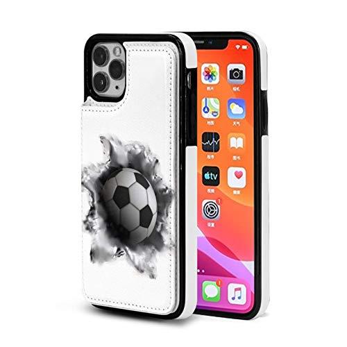 Fútbol Kick Caso Para el iPhone 11 Con Titular De La Tarjeta Lindo Cartera Para Mujeres Hombres