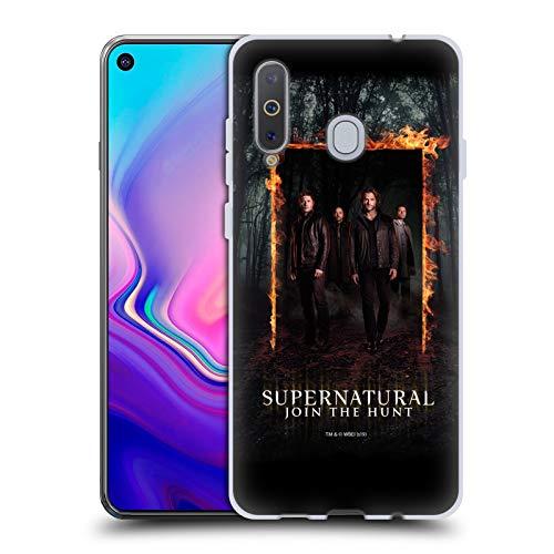 Offizielle Supernatural Sam, Dean, Castiel und Crowley Schluessel Kunst Soft Gel Handyhülle Hülle Huelle kompatibel mit Samsung Galaxy A8s (2018)