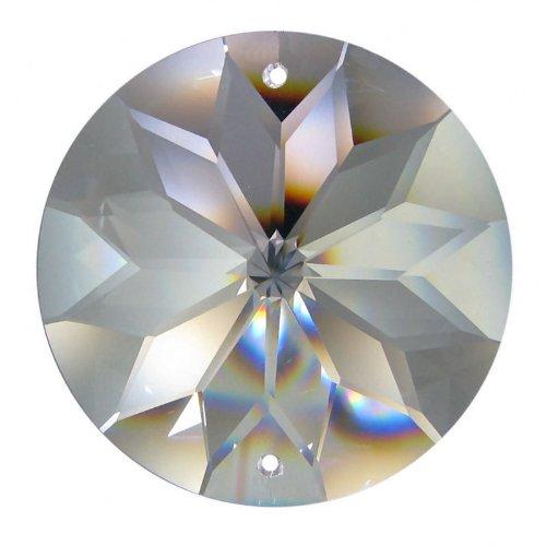 Soleil en cristal haut de gamme (30%pbo) style Rivoli (40mm) 2 trous