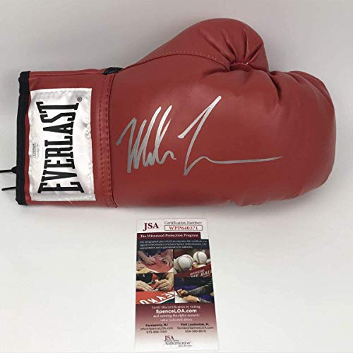 Mike Tyson Signed Autograph Boxing Glove Red JSA Witnessed Certified