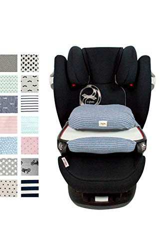 Fundas BCN ® - Bezüg für Sitzverkleinerer für Cybex Pallas M-FIX ® - Verschiedene Drucke und Farben (Deep Stripes)
