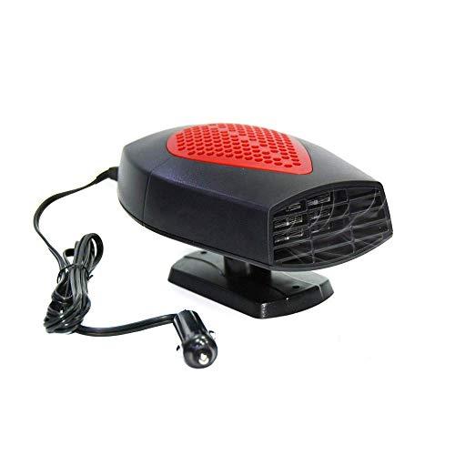 LEIJINGZI Worth having - Calentador de automóviles portátil, 60 segundos de calefacción rápida Desfronte Defrotgger Demister Vehículo Ventilador de enfriamiento de calor 12V 150W Calentador de cerámic