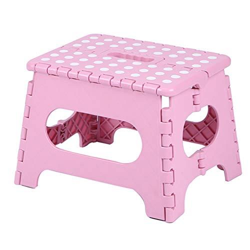 teng hong hui Kunststoff Hocker beweglicher Punkte Klappstuhl Erwachsener Stuhl Bad Kinder Hoch Hocker Badezimmer Haus Kinder Kleine Bank