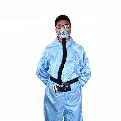 Isunking Sicherheits-atemschutzmaske – Elektrischer Konstanter Durchfluss Mit Luftzufuhr Für Das Ganze Gesicht, Tragbares Spray Malwerkzeug, Atemschutzsystem (Blau)