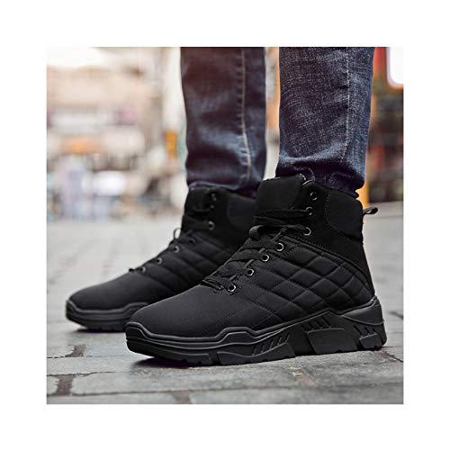 HaoLin Ejército Fan Tactical Boot Botas De Nieve De Montañismo Zapatillas Cálidas Zapatos De Trabajo De Felpa Calzado Zapato,Black-46