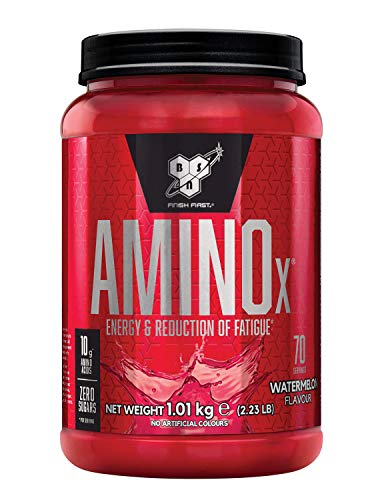 BSN Nutrition Amino X Muscle Building Support Powder Supplement with Vitamin D, Vitamin B6 and Amino Acids, Watermelon, 1 kg, 70 Servings