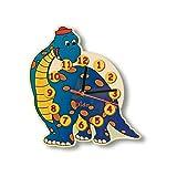 Dida - Orologio Dinosauro. Orologio da Parete in Legno per arredare la Camera dei Bambini.