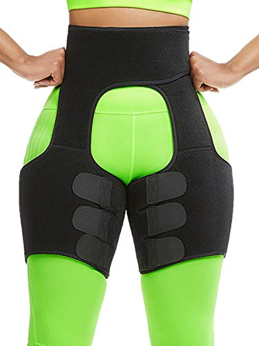 Thigh Trimmer Bands for Women and Men Weight Loss Sweat Thigh Slimmer Wraps Waist Trainer Belt