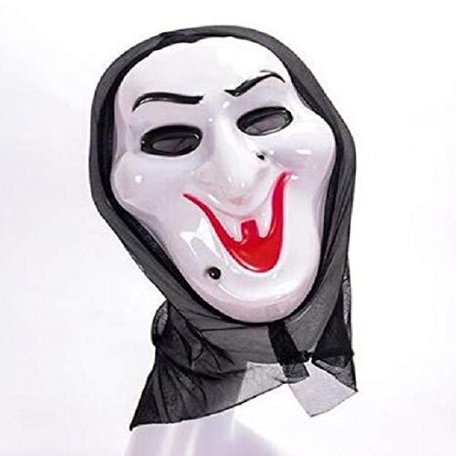 LZNFLY Mascara Halloween Scary Mask Cosplay Máscara de DisfrazScream Skull Ghost Mask Fake Face Multi-Shape Scary Halloween Cosplay, b
