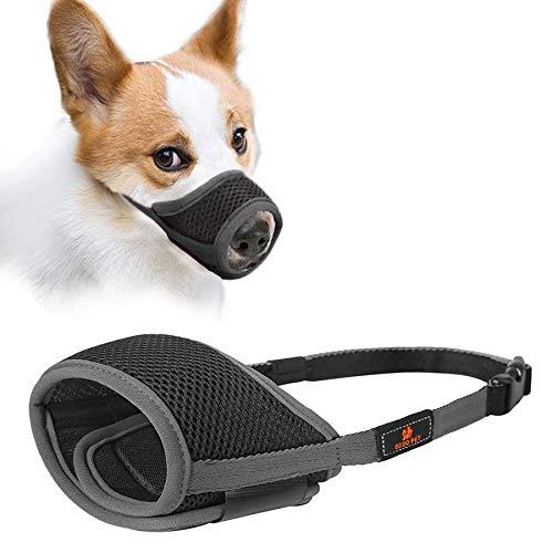 Maulkörbe Für Hunde,maulkorb Chihuahua,Hunde Maulkorb,Maulkorb aus Stoff mit Verstellbarer Schlaufe Atmungsaktives, Verhindert Das Beißen, Kauen Und Bellen