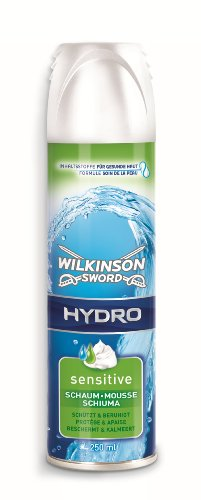 Wilkinson Sword Rasierschaum Hydro Sensitive Herren, 250 ml, 3 St