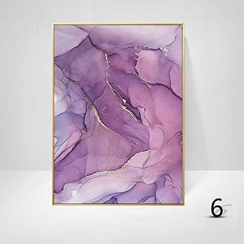 WSNDGWS Studie kamer decoratie schilderij Scandinavische stijl abstracte kunst eenvoudige kleur verf inkjet muur schilderen zonder fotolijst 40x60cm F4