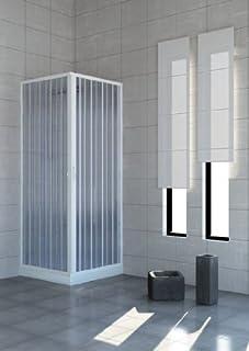Cabina de ducha con puertas plegables–&