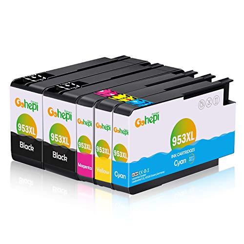 Gohepi Ersatz für HP 953 953XL Patronen Kompatibel für HP OfficeJet Pro 7720 7730 7740 8210 8218 8710 8715 8718 8720 8725 8728 8730 8740 (2 Schwarz, 1 Cyan, 1 Magenta, 1 Gelb)