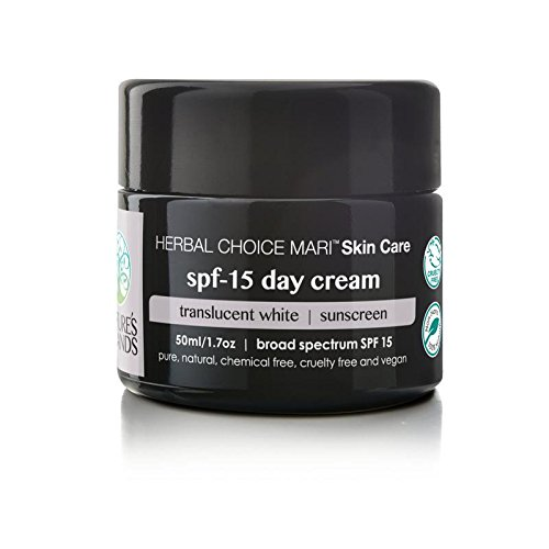 Herbal Choice Mari Natural SPF 15 Day Cream, Translucent White; 1.7floz Glass