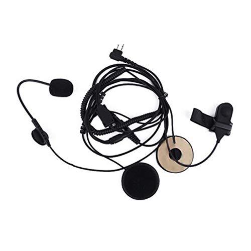 tellaLuna Casco de Motocicleta Auriculares Walkie-Talkie Auriculares Adhesivos con Dedo PTT Impermeable Puerto K Universal