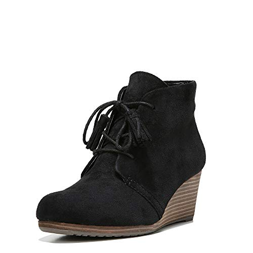 Dr. Scholl's Shoes Women's Dakota Boot, Black Microfiber Suede, 8 W US