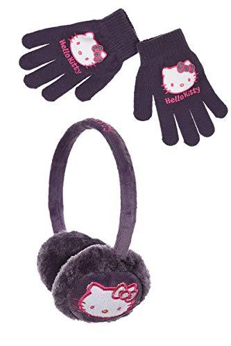 Orejera y guantes para niña de Hello Kitty en color...