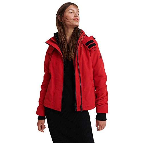 Superdry Damen Ottoman Windcheater Jacke, Rot (Red 17I), XL (Herstellergröße:16)