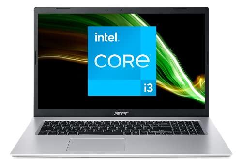 Acer Aspire 3 A317-53-34A6 Intel Core i3 Ordinateur Portable 17.3   HD+, PC Portable (RAM 8 Go, SSD 512 Go, Intel UHD Graphics, Windows 10) - Clavier AZERTY (Français), Laptop Gris
