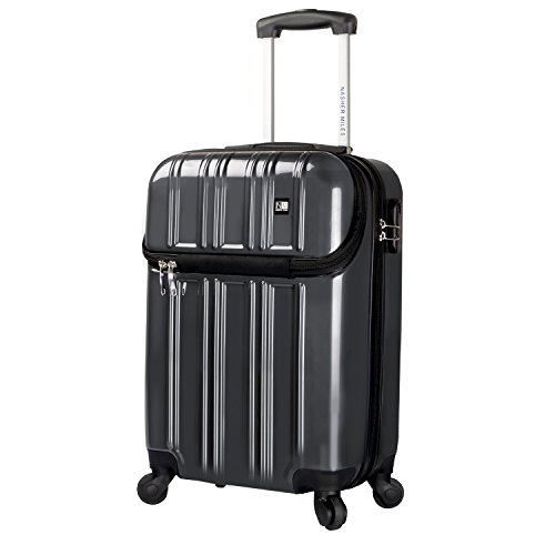 Nasher Miles New York 51 cm ABS & PC Grey Hard Sided Cabin Bag