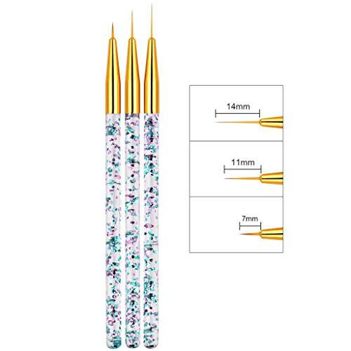 SDENSHI 6X Super Fino 3 Tamaños 7/9 / 14mm Juego De Pinceles para
