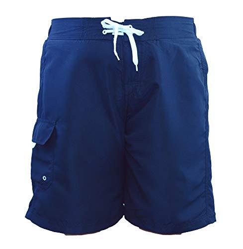 Adoretex Women's Plus Size Solid Board Shorts Swimsuit - FB007P - Navy - 5X