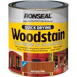 Ronseal Quick Drying Woodstain Gloss 750ml Deep Mahogany (464731)