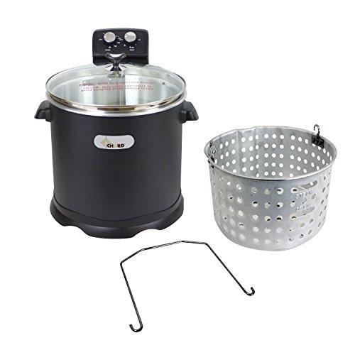 Chard EDF-15, Electric Turkey Fryer, Black, 16 Quart, 1700 watts