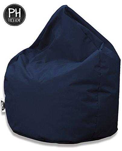 Patchhome Sitzsack Tropfenform Marine für In & Outdoor XXXL 480 Liter - mit Styropor Füllung in 25 versch. Farben und 3 Größen