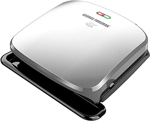 4-Serving Removable Plate Grill and Panini Press, Platinum, GRP3060P -6.55 Pounds