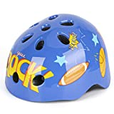 Kids Bicycle Helmets, LX LERMX Kids Bike Helmet Ages 3-8 Adjustable from Toddler to Kids Size, Durable Kids Bike Helmet with Fun Designs for Boys and Girls(Blue)