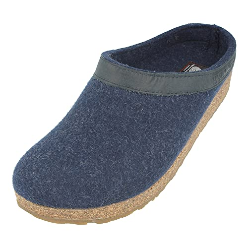 Haflinger Torben 713001-2, Pantofole unisex adulto, Azul, 41