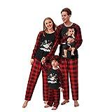 riou Pijamas de Navidad Familia Conjunto Top+Pantalones Suave y...
