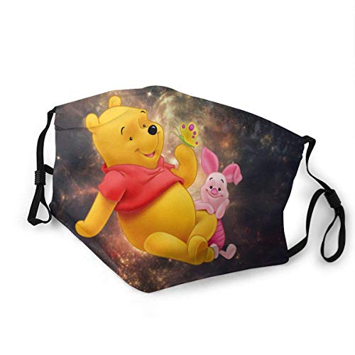 Winnie The Pooh Tiger Piglet Adult Kids Face Shield Half Face Covering with Filter