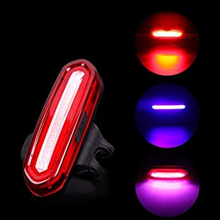 Providethebest Deemount 103 LM Rechargeable COB LED USB Taillight Mountain Bike Tail Bulb MTB Safety Warning Bicycle Rear Light Lamp red blue & pink 6 modes:Masterpola