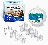 8Pcs Dispositif Anti Ronflement, Écarteur Nasal Anti-Ronflement, Dilatateur en Silicone, Améliore la Respiration pour un Sommeil plus Confortable